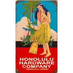 Honolulu Hardware Metal Sign