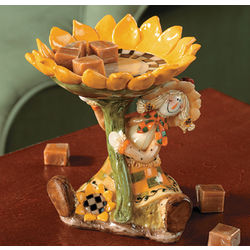 Scarecrow and Sunflower Candy Dish