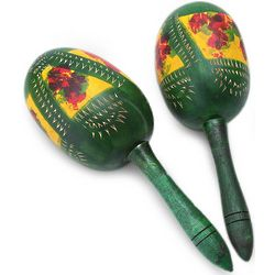Green Jungle Gourd Maracas