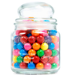 Personalized The Sweetest Couple Glass Jar