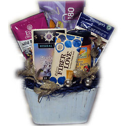Blue Christmas Healthy Blueberry Gift Basket