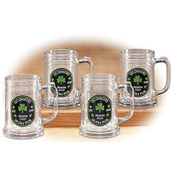 Personalized Premium Tankard Glass Set
