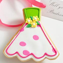 Will You Be My? Edible Joan Polka Dot Dress Cookie Card