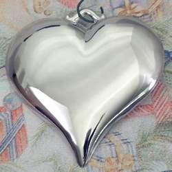 Personalized Silvertone Heart Ornament