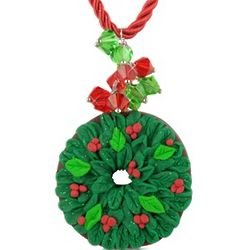 Christmas Wreath Necklace