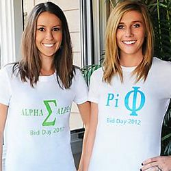 Sorority Letters T-Shirt