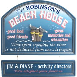 Beach House Personalized Wall Sign