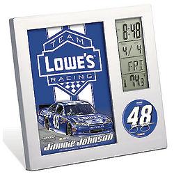 Jimmie Johnson NASCAR Desk Clock