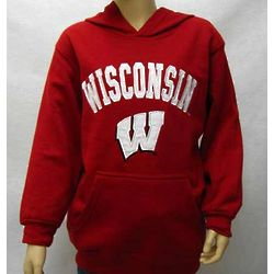 Youth's University of Wisconsin Hooded Sweatshirt