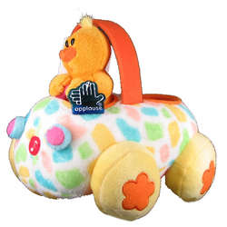 Applause Happy Easter Plush Duck Buggy Toy