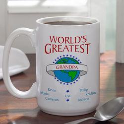 World's Greatest Personalized Large Ceramic Coffee Mug