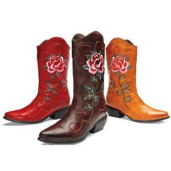 Desert Rose Embroidered Boots