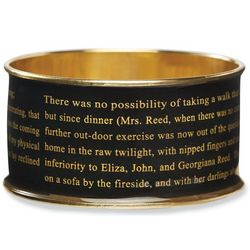 Jane Eyre Literary Black Bangle