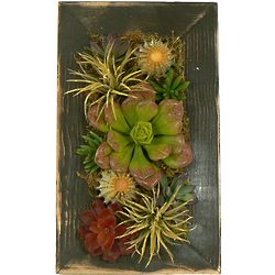 Rustic Cactus Wooden Wall Art