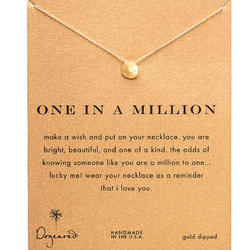 One in a Million Sand Dolalr Gold Dipped Necklace