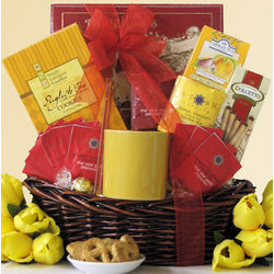 Tea Treasures Small Gourmet Tea Gift Basket