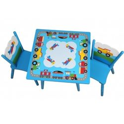 Kids Airplane Table & Chairs Set