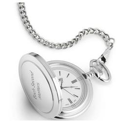 White Satin Ring Pocket Watch and Men's Valet Box