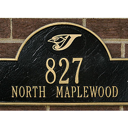 Toronto Blue Jays Black and Gold Personalized Address Plaque