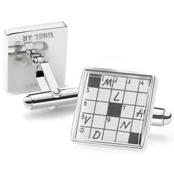 The New York Times Crossword Puzzle Cuff Links