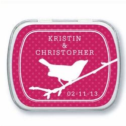 30 Personalized Bird Mint Tins