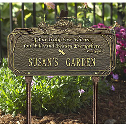 Personalized Dragonfly Poem Garden Sign