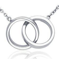 Sterling Silver Infinity Rings Necklace
