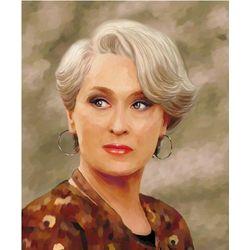 Meryl Streep Oil Painting Print