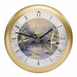 Thomas Kinkade Spirit of Christmas Sound Clock