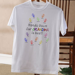 Hands Down Personalized Adult T-Shirt