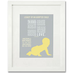 Legacy of An Adopted Child Framed Baby Art