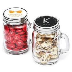 Personalized Mini Glass Mason Jars