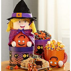 Happy Halloween Witch Gift Tower of Sweets