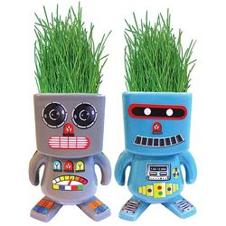 Ceramic Robot Grass Planter