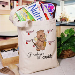 Lil' Cupids Personalized Canvas Tote Bag