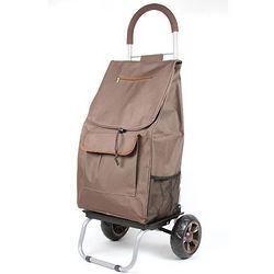 Brown Wheeled Trolly Dolly Bag