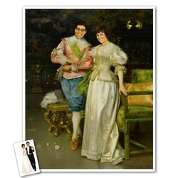 Classic Painting Betrothed Personalized Print