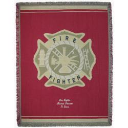 Personalized Deluxe Firefighter Throw