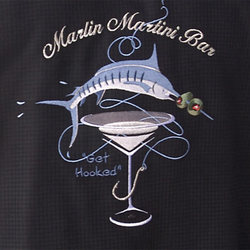 Marlin Martini Bar Silk Shirt