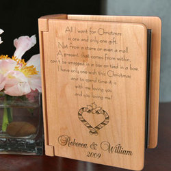 Personalized You and I During Christmas Time Wooden Photo Album
