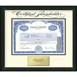 Framed Scholastic Corporation Stock