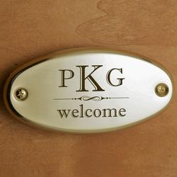 Welcome Monogram Door Plate