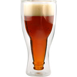 Hopside Down Bottle in a Beer Glass