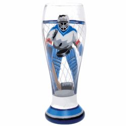 Hand-Painted Slapshot Pilsner Glass