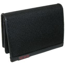 Ballastic Nylon Card Case with Leather Trim