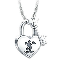 Unlock The Magic Mickey Mouse Lock And Key Pendant