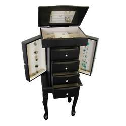 Racquel Jewelry Armoire in Java Finish