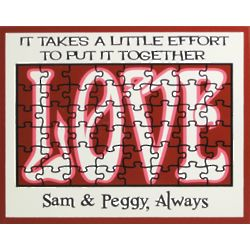 Love or Marriage Personalized Wall Sign