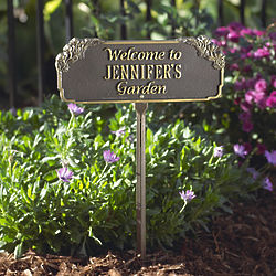 Personalized Garden Welcome Sign