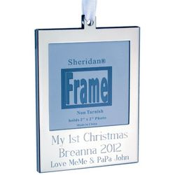 Engravable Silver Plated Photo Frame Ornament